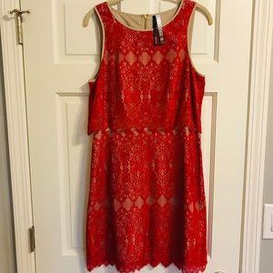 Kensie Red / Nude Dress-Medium